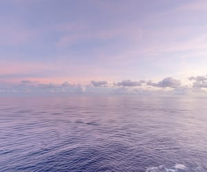 ocean, purple, and sky image