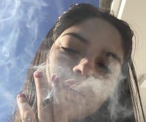 girl, smoke, and aesthetic image