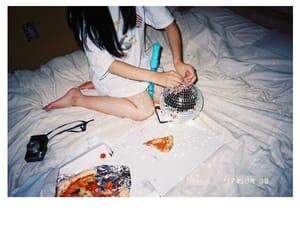 girl, home, and polaroid image