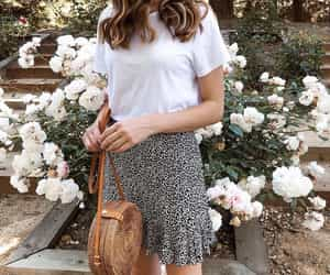 fashion, flowers, and leopard print image
