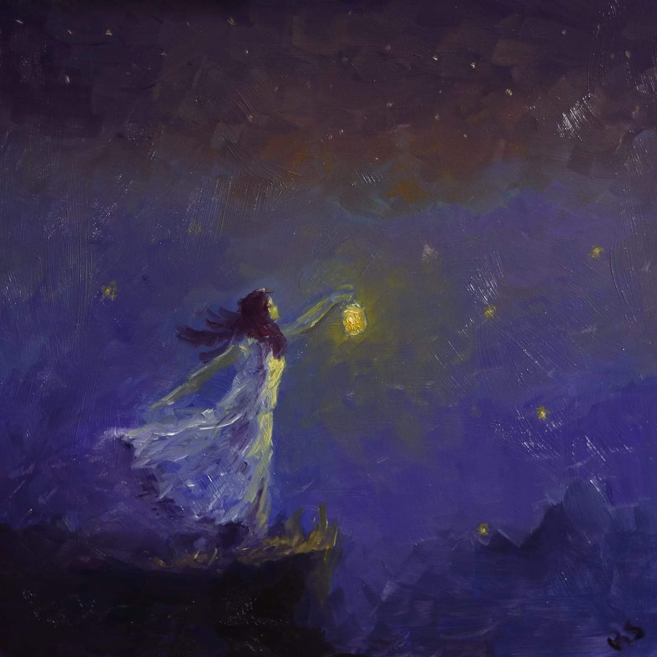 art, blue, and Darkness image