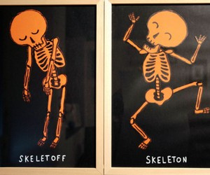 skeleton, funny, and lol image