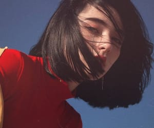 girl, red, and short hair image