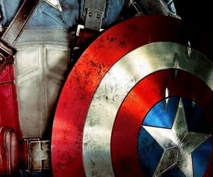 captain america, hero, and Marvel image