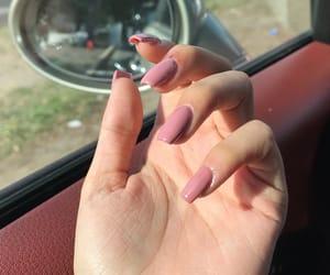 nail polish, nails, and pink nails image