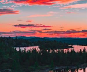 nature, lake, and sunset image