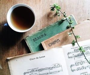 music, chopin, and coffee image