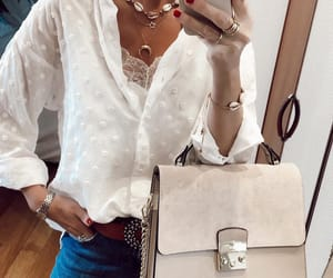 blogger, street style, and camelia roma bag image