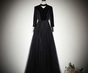 black dress, girl, and simple dress image