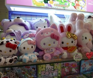 hello kitty, plushies, and cute image