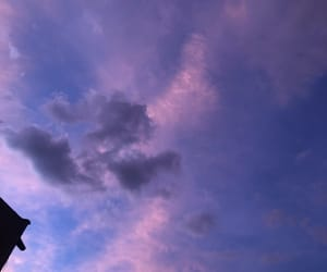 aesthetic, blue, and purple sky image