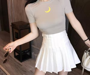 moon, skirt, and white image