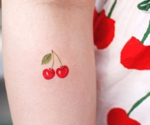 adorable, cherry, and fruit image