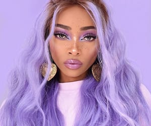 girl, purple, and hair image