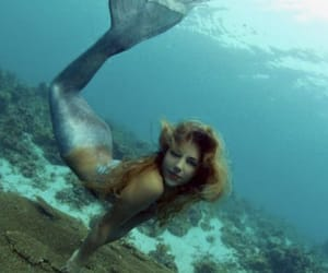 beautiful, long hair, and underwater image