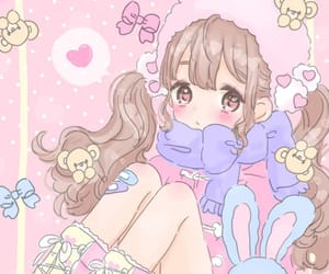 anime, girl, and pastel image