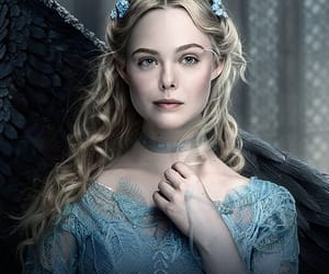 Elle Fanning and maleficent image