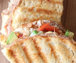 food, toastie, and sandwich image