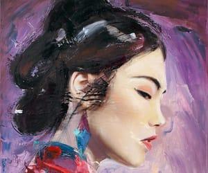 art, geisha, and Ilustration image