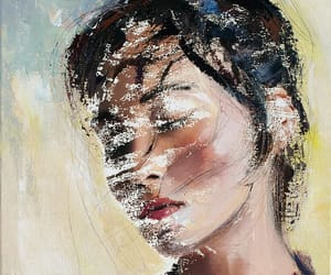 art, asian girl, and drawing image
