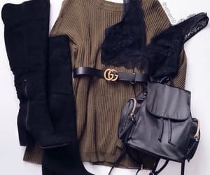 fashion, belt, and outfit image