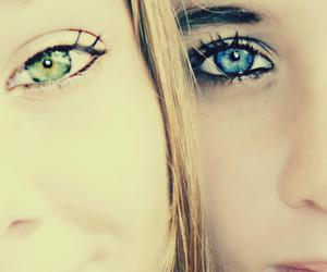 best friends, blonde, and blue eyes image