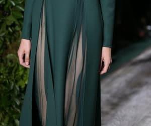 green, runway, and Valentino image