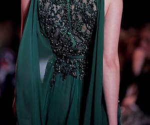 dress, sparkles, and green image