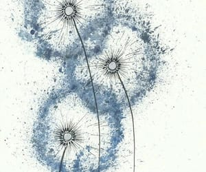 art, blue, and dandelion image