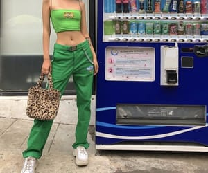 green, outfit, and clothes image