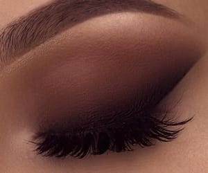 brown, makeup, and eyeshadow image