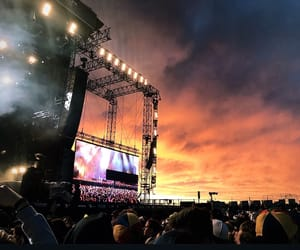 aesthetics, colorful sky, and concerts image