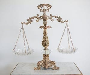 balance, gold, and Libra image