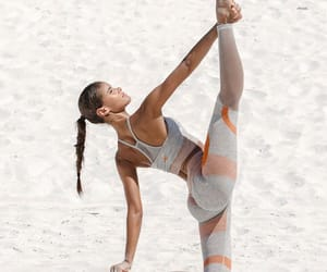 beach, girl, and EXCERCISE image
