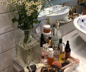bathroom, flowers, and beauty image