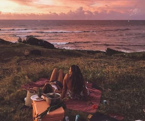 girls, friendship, and nature image