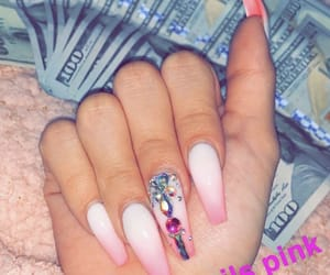 money, nails, and traplanie image