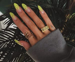 nails, neon, and style image