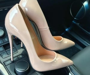 car, heels, and luxury image