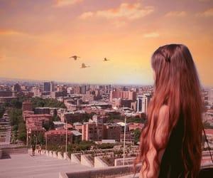 armenia, hair, and sunset image