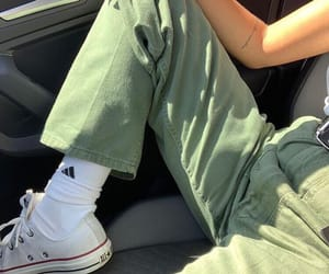 green, aesthetic, and converse image