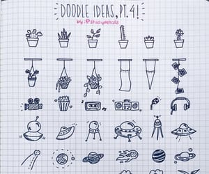 doodles, doodle ideas, and bujo image