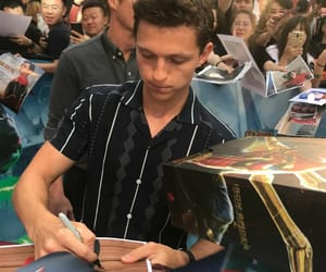 actors, spiderman, and tom holland image