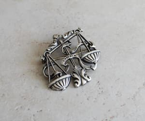etsy, sterling silver, and vintage brooch image