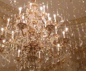 chandelier, aesthetic, and diamond image