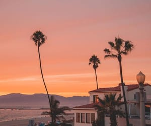 beach, dawn, and dusk image