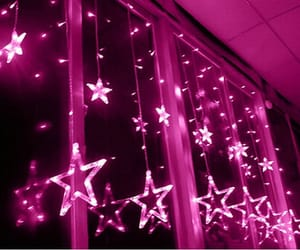 stars, neon, and pink image