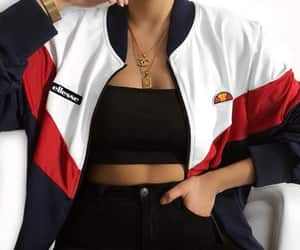 fashion, ellesse, and black image