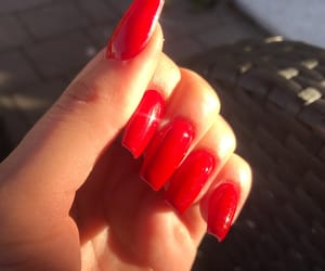 nails, red, and sun image