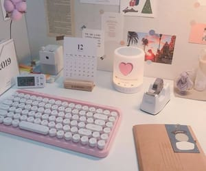 aesthetic, pink, and school image